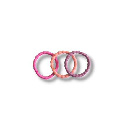 Elastike za lase Pink Mix Ø1.5cm 100 kos