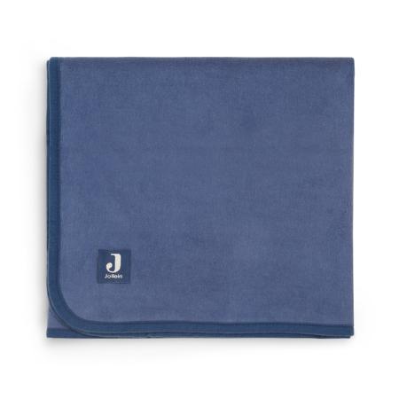 Slika Jollein® Bombažna odejica Jeans Blue 150x100