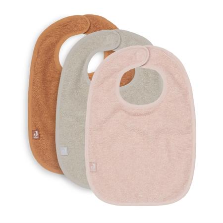 Jollein® Komplet 3 bombažnih slinčkov Pale Pink/Nougat/Caramel