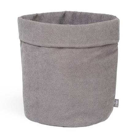 Slika Jollein® Košara za shranjevanje Corduroy Storm Grey