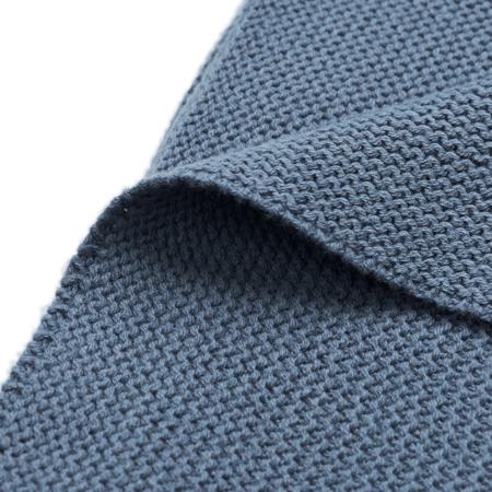 Jollein® Pletena odejica Basic Knit Jeans Blue 100x75