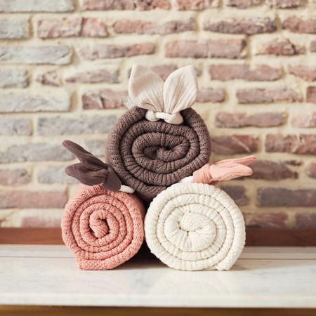 Jollein® Pletena odejica Spring Knit Rosewood 100x75