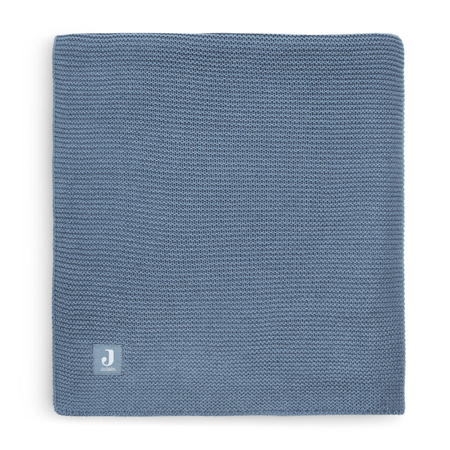 Slika Jollein® Pletena odejica Basic Knit Jeans Blue 150x100