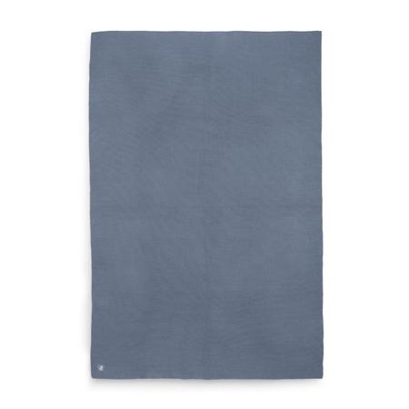 Jollein® Pletena odejica Basic Knit Jeans Blue 150x100