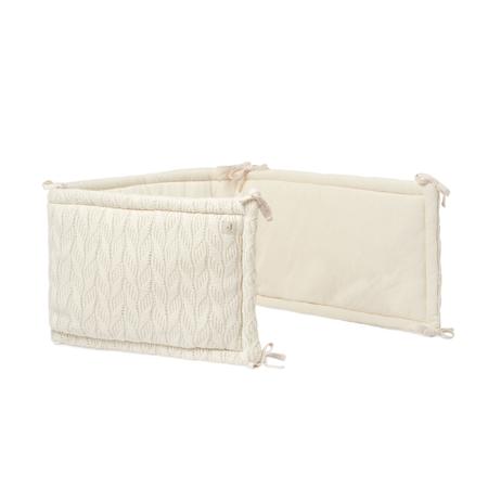 Slika Jollein® Obroba za posteljico Spring Knit 180x35 Ivory