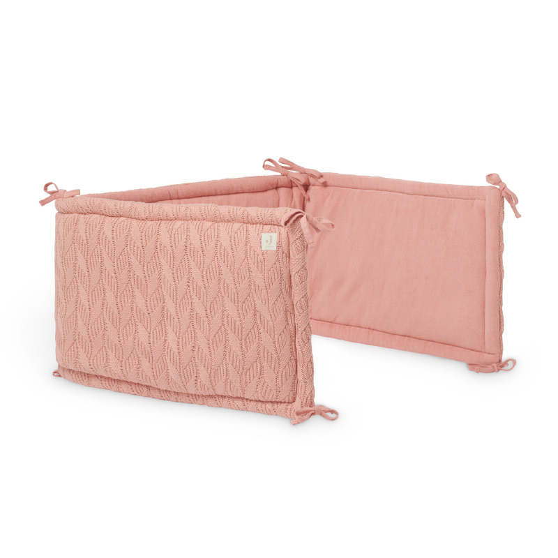 Jollein® Obroba za posteljico Spring Knit 180x35 Rosewood