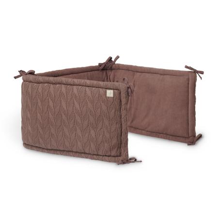 Slika Jollein® Obroba za posteljico Spring Knit 180x35 Chestnut