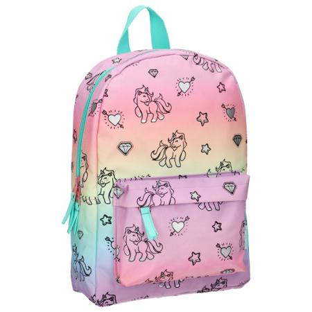 Slika Kidzroom® Otroški nahrbtnik Milky Kiss Rainbows and Unicorns (S)