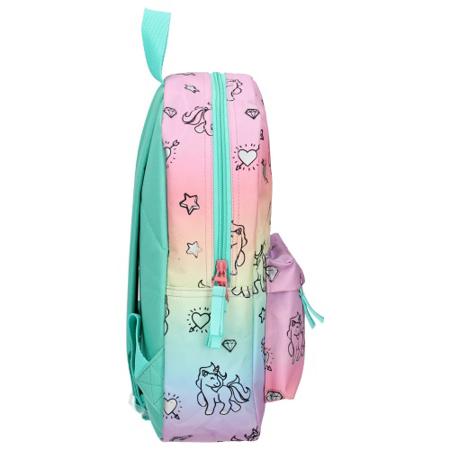 Kidzroom® Otroški nahrbtnik Milky Kiss Rainbows and Unicorns (S)