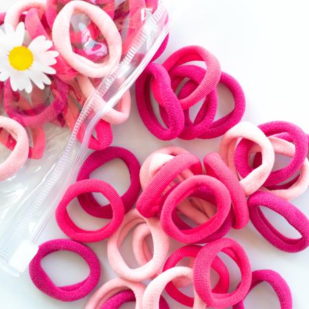 Elastike za lase Pink Mix Ø2.5cm 50 kos
