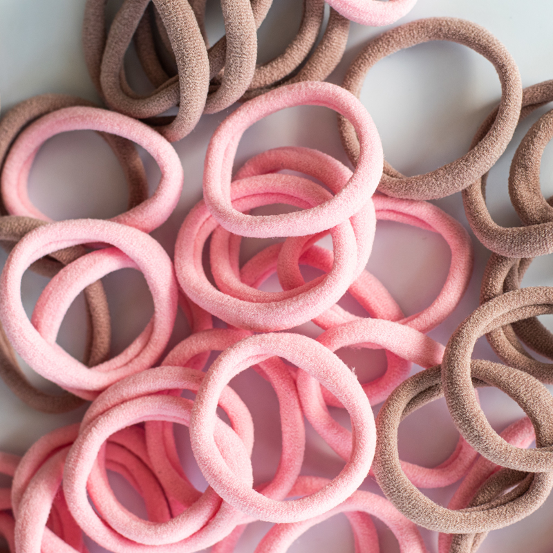 Elastike za lase Pink Mix Ø3,5cm 50 kos