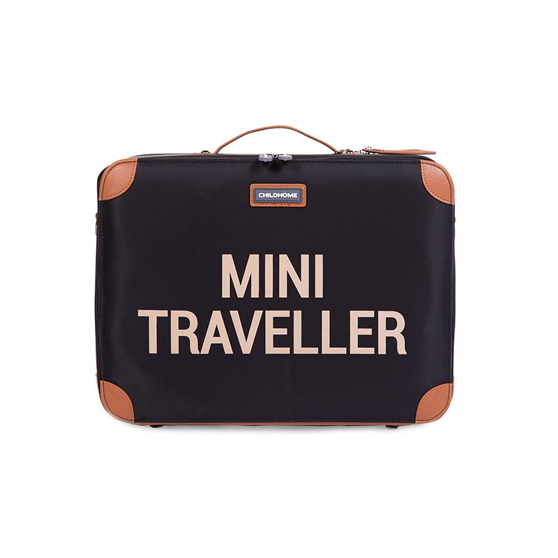Childhome® Potovalni kovček MINI Traveller Black and Gold