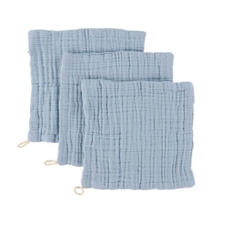 Sebra® Komplet 3 krpic za umivanje Powder Blue 20x20