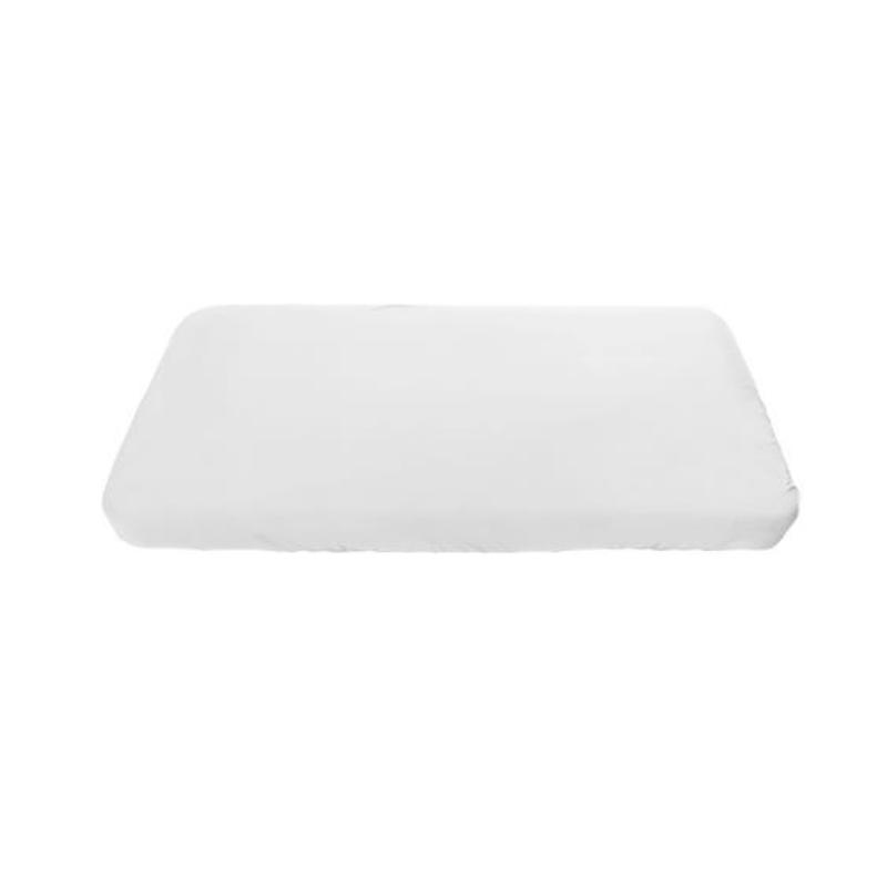 Sebra® Otroška jogi rjuha za posteljico Junior & Grow White 160 x 90 cm