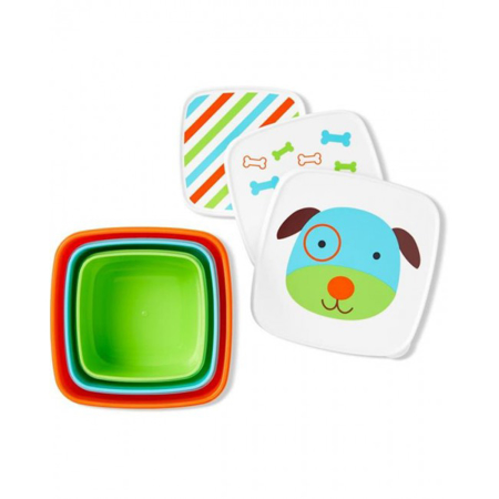Skip Hop® Set škatlic za prigrizke Kuža