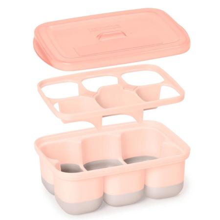 Skip Hop® Posodice za zamrzovanje otroške hrane Grey / Coral