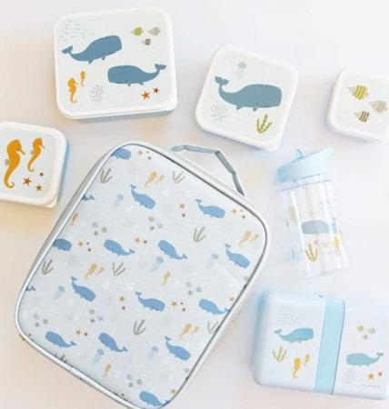 A Little Lovely Company® Škatlice za malico in prigrizke Ocean