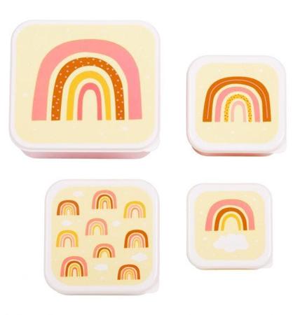 Slika A Little Lovely Company® Škatlice za malico in prigrizke Mavrica