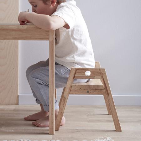 Kids Concept® Lesen otroški stol/pručka Saga Blonde