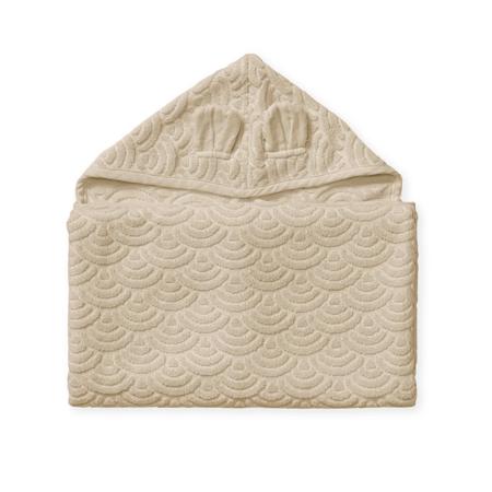 Slika CamCam® Brisača s kapuco in ušesi GOTS Almond 70x130