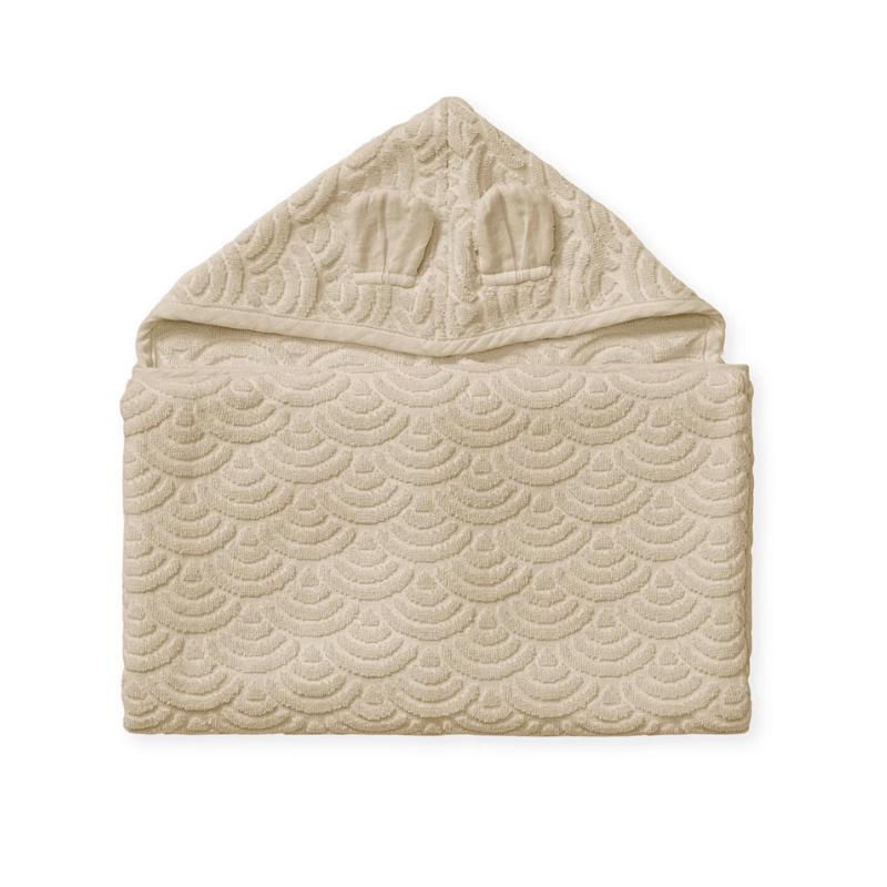 CamCam® Brisača s kapuco in ušesi GOTS Almond 70x130