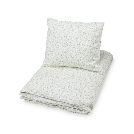 Slika CamCam® Otroška posteljnina GOTS Green Leaves Junior 100x140, 45x40