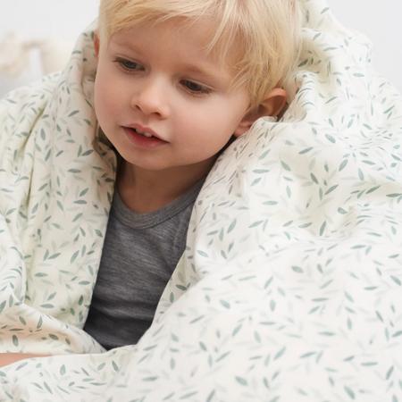 CamCam® Otroška posteljnina GOTS Green Leaves Junior 100x140, 45x40