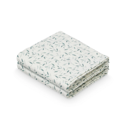 CamCam® Komplet tetra pleničk GOTS Green Leaves 70 x 70