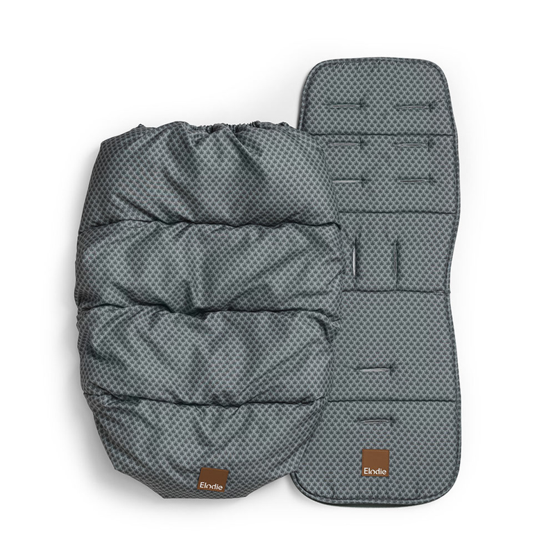 Elodie Details® Zimska vreča z univerzalno podlogo Turquoise Nouveau
