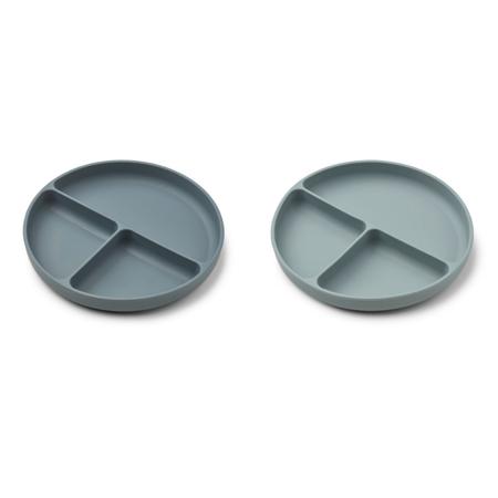 Liewood® Komplet deljenih silikonskih krožnikov Harvey Whale Blue Mix