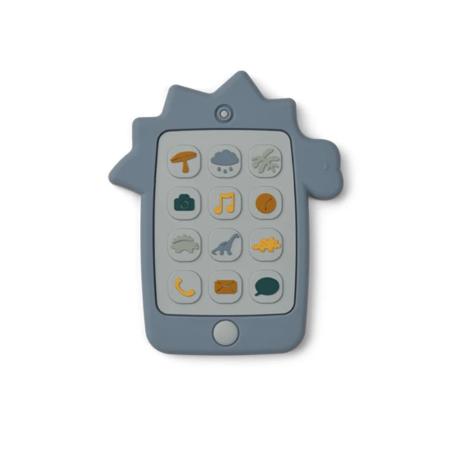 Slika Liewood® Aktivnostna igračka iz silikona Telefon Dino Blue Wave