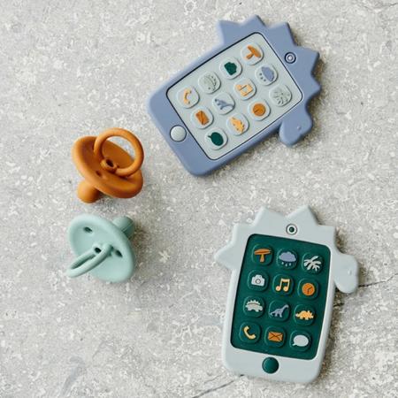 Liewood® Aktivnostna igračka iz silikona Telefon Dino Blue Wave