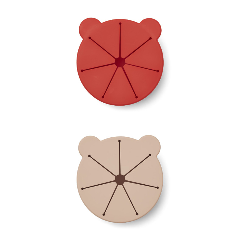 Liewood® Komplet 2 silikonskih skledic za prigrizke Kelly Apple Red/Rose Mix
