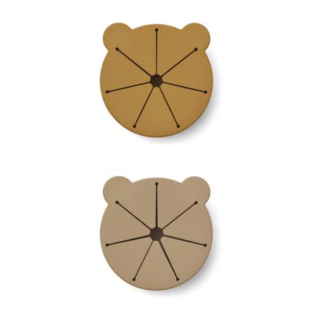 Liewood® Komplet 2 silikonskih skledic za prigrizke Kelly Golden Caramel Oat Mix