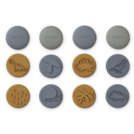 Liewood® Set 12 žigov iz silikona Earl Blue Multi Mix