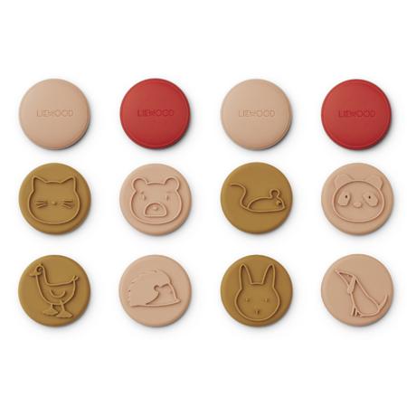 Liewood® Set 12 žigov iz silikona Earl Tuscany Rose Multi Mix