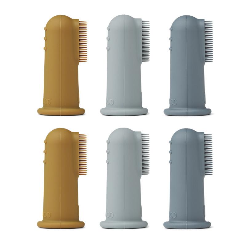 Liewood® Zobna ščetka za na prst 6 kosov Blue Multi Mix