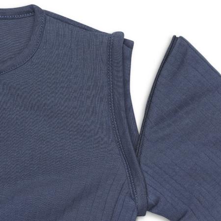 Jollein® Otroška spalna vreča s snemljivimi rokavi 70cm Stripe Jeans Blue TOG 3.5