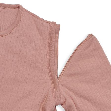 Jollein® Otroška spalna vreča s snemljivimi rokavi 90cm Stripe Rosewood TOG 3.5