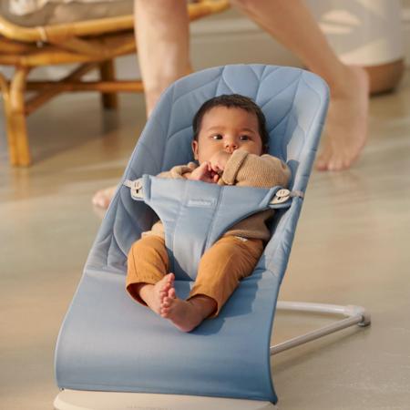 BabyBjörn® Gugalnik Balance Bliss Cotton Petal Quilt Blue
