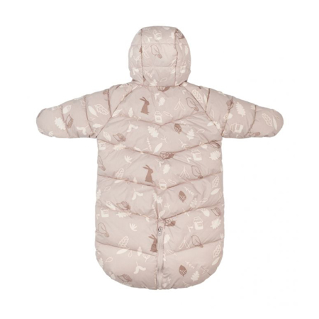 Leokid® Zimska vreča in pajac 2v1 Dusty Pink Forest (3-9M)