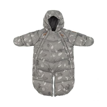 Slika Leokid® Zimska vreča in pajac 2v1 Gray Blue Forest (3-9M)