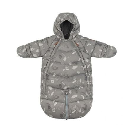 Leokid® Zimska vreča in pajac 2v1 Gray Blue Forest (3-9M)