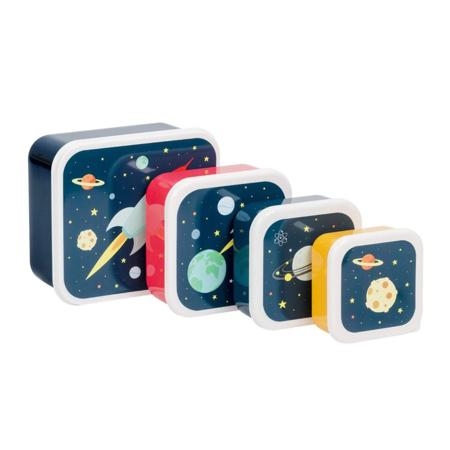 Slika A Little Lovely Company® Škatlice za malico in prigrizke Space