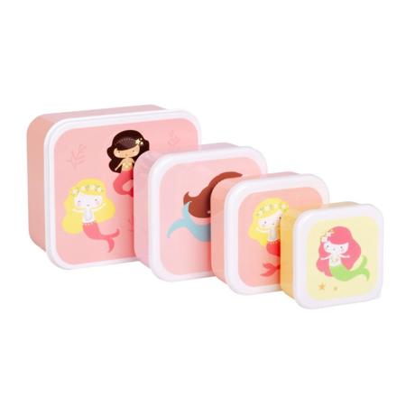 Slika A Little Lovely Company® Škatlice za malico in prigrizke Mermaids