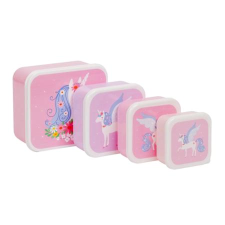 Slika A Little Lovely Company® Škatlice za malico in prigrizke Unicorn