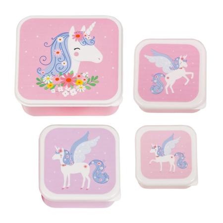 A Little Lovely Company® Škatlice za malico in prigrizke Unicorn