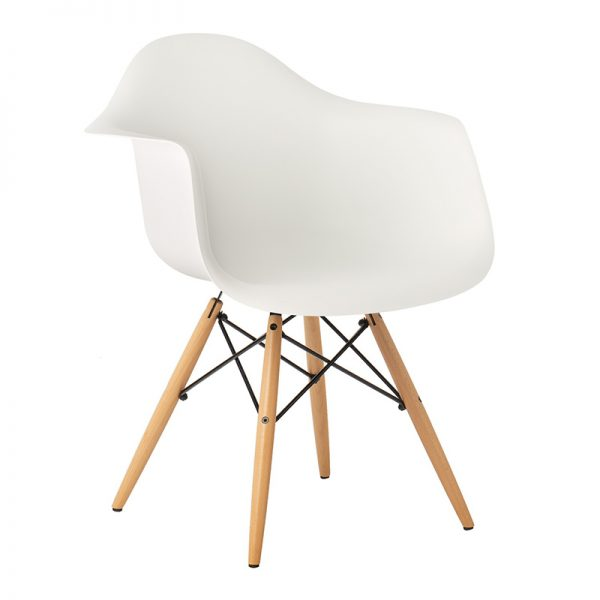 Childrens Charles Ray Eames Style DAW Arm Chair – White1