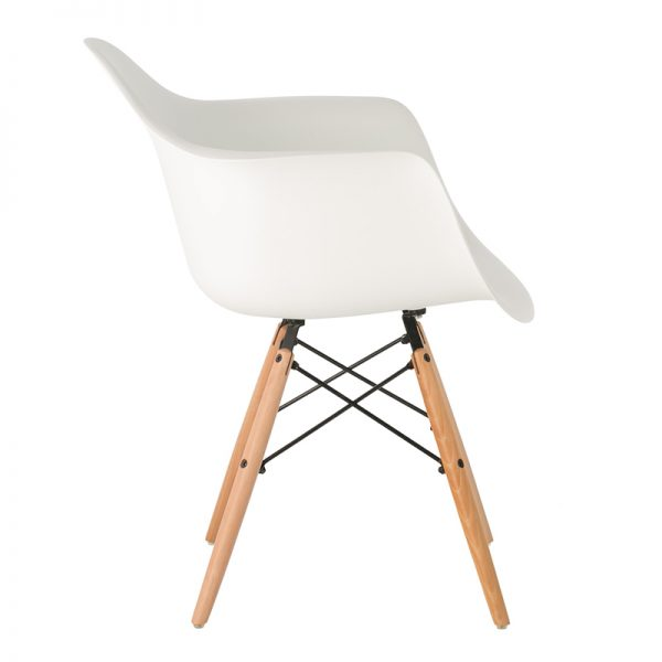 Childrens Charles Ray Eames Style DAW Arm Chair – White2