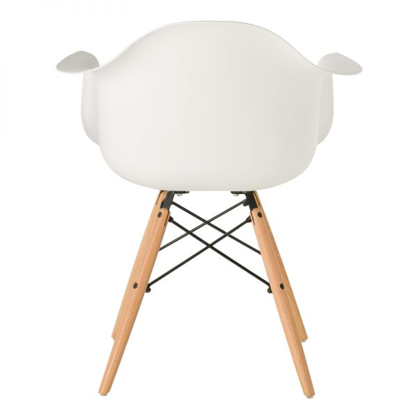 Childrens Charles Ray Eames Style DAW Arm Chair – White3